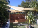 shade sails in the garden